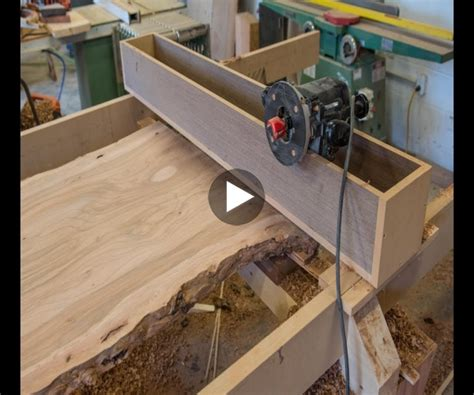 woodworking indicator 187 woodworking how to flatten a live edge slab