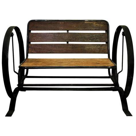 iron glider bench groovystuff 174 iron horse glider bench 235575 patio