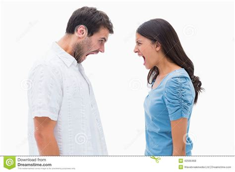 wallpaper of angry couple angry couple shouting at each other stock photo image