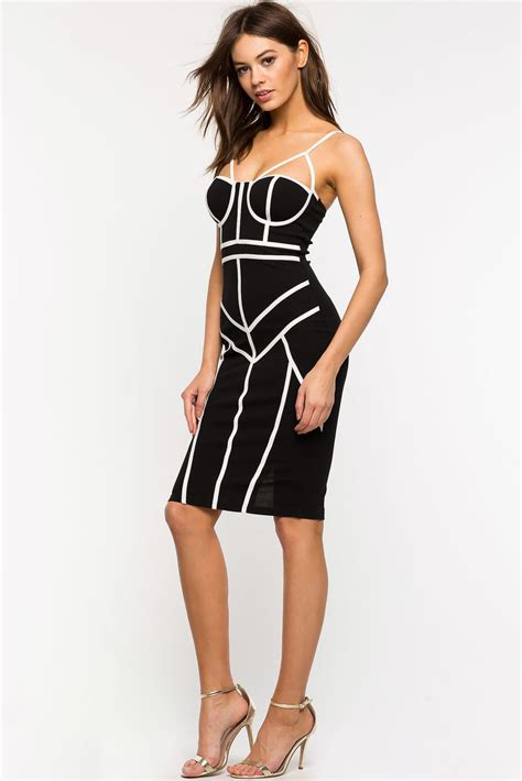 Cage Dress s dresses piped cage bustier dress a gaci