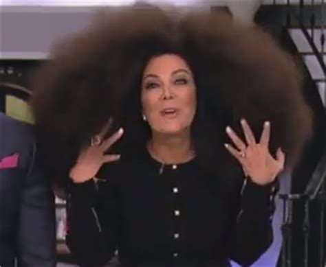 does chris jenner wear a wig video check out kardashian mom rocking oprah s afro wig
