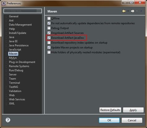 download javadoc exe for eclipse fileworking