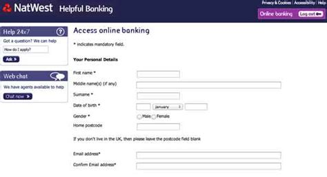 natwest online banking sign up uk Can you download free on ... My Online Account