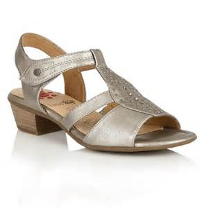 Lotus Shoes And Sandals Lotus Relife Cynthia Pewter Matt Open Toe Sandals Shoes