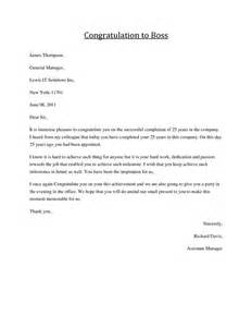 Thank You Letter Boss For Congratulations congratulations letter to boss job congratulations formal business