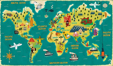 the world travels of map world map paul thurlby