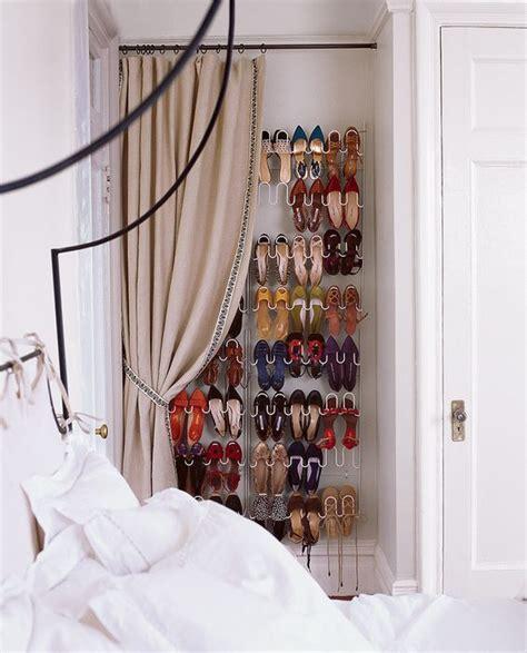 picture of shoe shelf in the bedroom corner