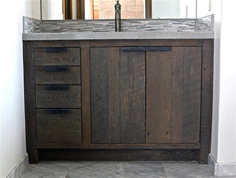 wooden bathroom vanity cabinets 30 exles of the reclaimed wood vanity