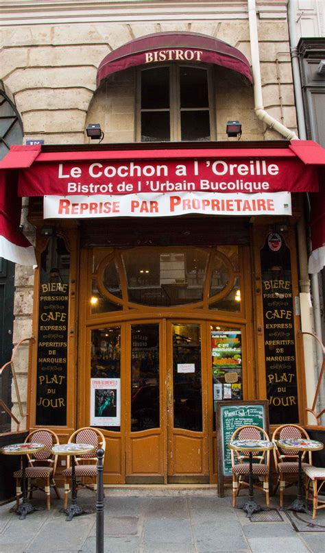 Red Awning Le Cochon 224 L Oreille Paris Ad 232 Le