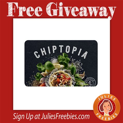 Chipotle Sweepstakes - chipotle chiptopia sweepstakes julie s freebies
