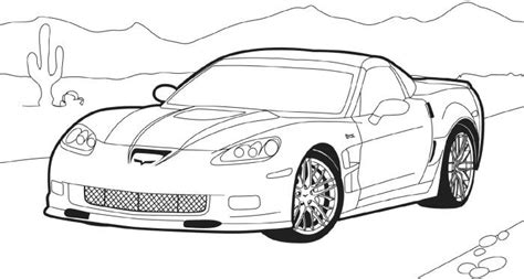 Coloring Pages Of Corvette Cars | evs chevrolet corvette coloring page corvette