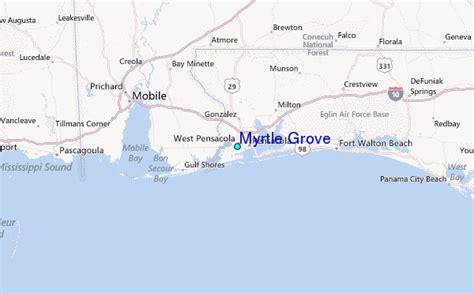 myrtle grove tide station location guide