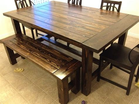 farmhouse table and bench do it yourself home projects