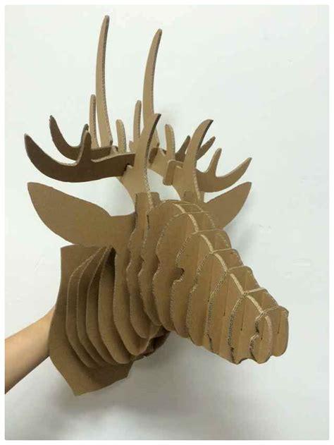 Diy Papercraft Permainan Pencocokan Pola Puzzle Hewan great 3d decorative deer diy cardboard sculpture paper deer decoration deer puzzle