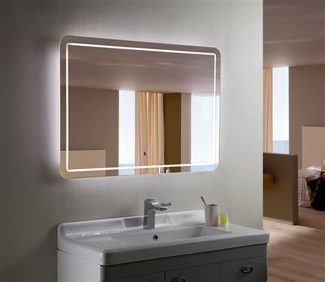 lit bathroom mirror bellagio ii backlit mirror led bathroom mirror horizontal