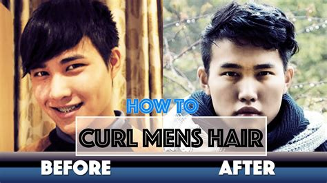 men with red fingernails and curlers in hair men how to curl your hair tutorial メンズヘアスタイルの中で人気 カーリー