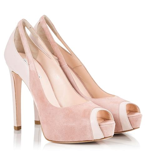 light pink heels fratelli karida light pink suede and vitello leather high