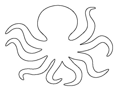Octopus Template octopus pattern use the printable outline for crafts creating stencils scrapbooking and more