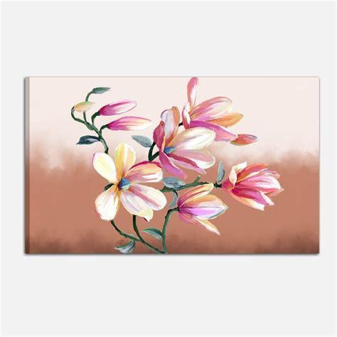 quadri moderni con fiori quadri moderni con fiori dipinti a mano per arredare casa
