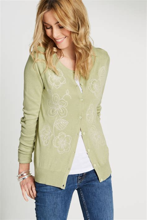 Floral Embroidered Cardigan floral embroidered cardigan