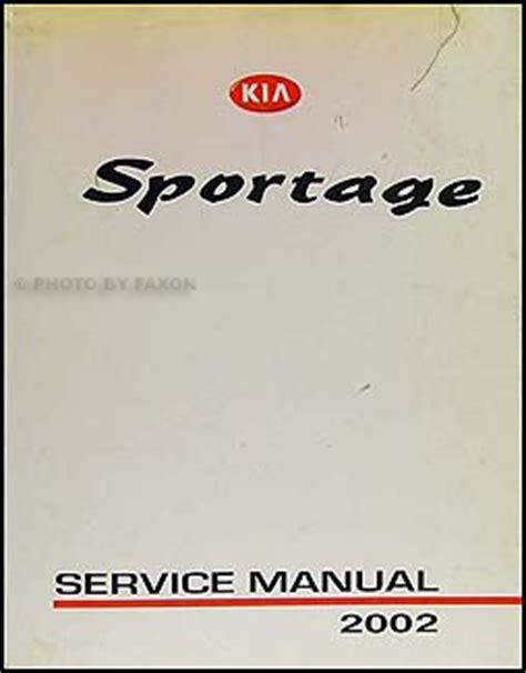 2002 Kia Repair Manual 2002 Kia Sportage Owners Manual Original