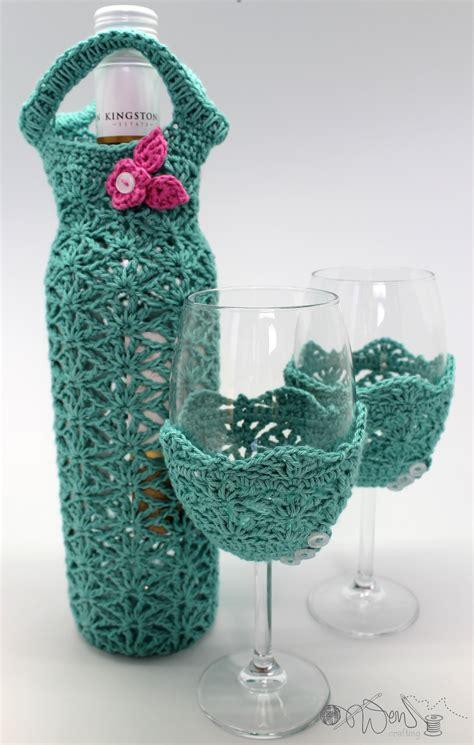 pattern for crochet bottle bag wine time