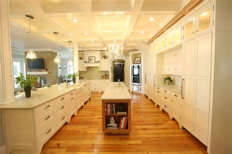 florida kitchen  heart pine flooring contemporary