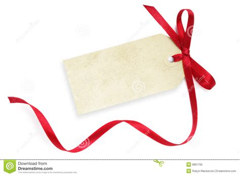 blank tag with red ribbon royalty free stock photo image