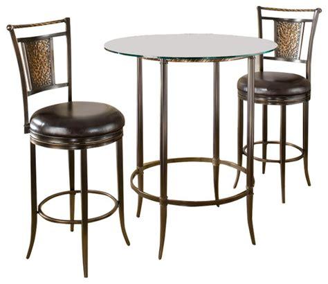 indoor bistro table sets hillsdale furniture parkside 3 bar height pub table