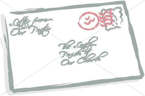 Fundraising Letter Envelopes Fundraising Thermometer Church Management Clipart