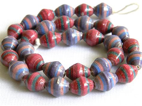 Paper Bead Supplies - paper paper bead jewelry supplies painted lot