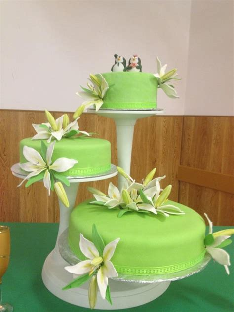 lime green wedding cake cakecentral