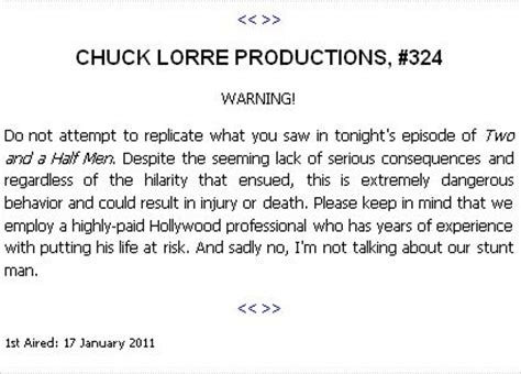 The Big Theory End Credit Vanity Cards by Blogpost Chuck Lorre Sheen And The Vanity Card Jabs