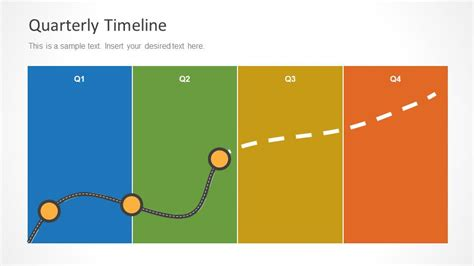 Quarterly Timeline Template For Powerpoint Slidemodel Microsoft Powerpoint Templates Time