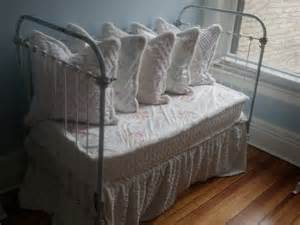 White Iron Baby Bed Antique Wrought Iron Crib Settee Daybed Our Pillows Are