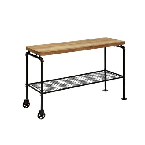 sofa table on wheels furniture of america arron console table with casters in