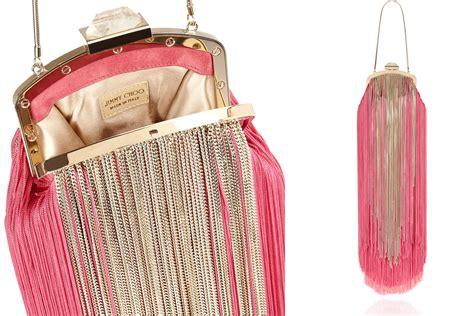 funky fringes funky fringe pink and gold wedding purse onewed com