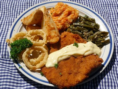 home cooked meals chicken schnitzel picture of