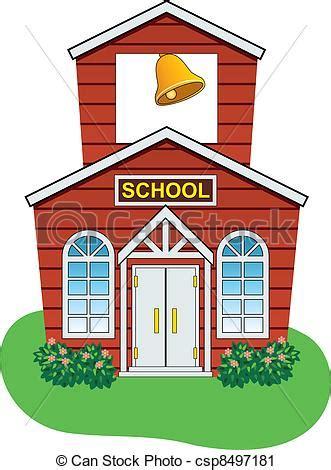 scuola clipart clipart vettoriali di paese scuola vettore casa