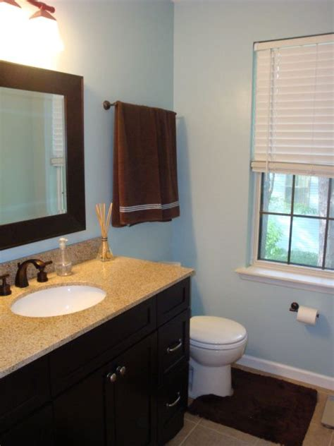 brown and blue bathroom 17 best images about bathroom makeover on