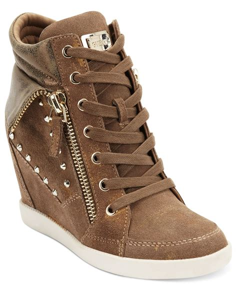 wedge sneakers macy s guess s shoes hitzo wedge sneakers from macys