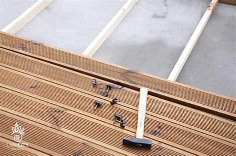 Balkon Holzboden Unterkonstruktion