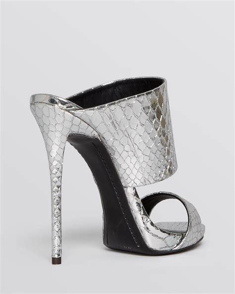 slide high heel sandals giuseppe zanotti slide mule evening platform sandals
