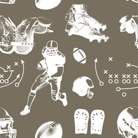 american football // taupe // large fabric