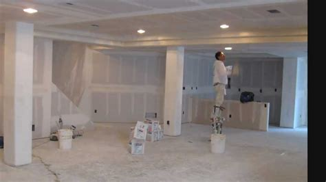 drywalling a basement time lapse basement finish