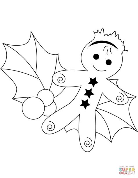 christmas coloring pages holly leaves christmas holly pictures coloring home