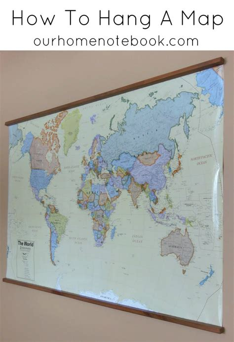 ways to hang posters want a simple way to hang a large scale map or poster