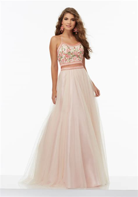 prom dresses nottingham formal dresses two piece prom dress with tulle skirt style 99112 morilee