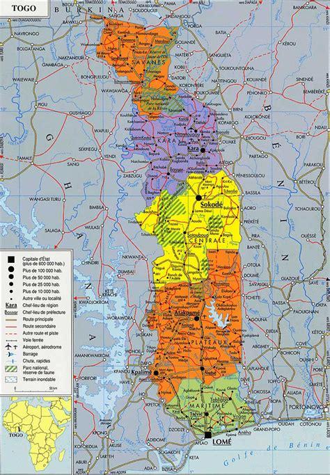 africa map togo la capitale du togo est lom 233 situ 233 e 224 l extr 234 me sud oues