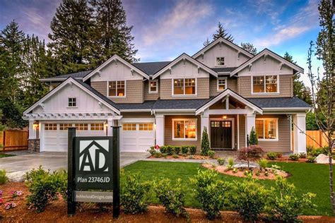 home plans craftsman modern craftsman house plan with 2 story great room 23746jd architectural designs house plans